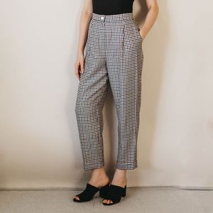 Vintage 80s Evan Picone Houndstooth Wool Trousers